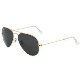 5bb15587d51d4 58 Ray Ban Aviador 3025 Dourado Lente Verde Polarizada 001 - Óculos ...