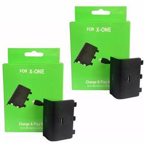 2 Bateria Carregador Usb Xbox One 8800 Mah Recarregável