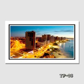 Quadro Decorativo Fortaleza Ceará 60x40cm Paisagens Cidades