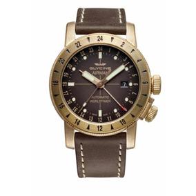 Relógio Glycine Gl0166 Airman 44 Bronze Gmt Automático 44mm