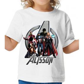 Camisa Vingadores Avengers Blusa Personalizada Blusa 32ecec800fd99