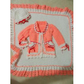 Conjunto Bebê-casaco Touca Manta-feito A Mão-bem Quente cb2acd3383e
