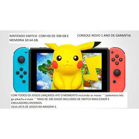 Nintendo Switch +sd 64 Gb + Hd 500gb Tera Destravado