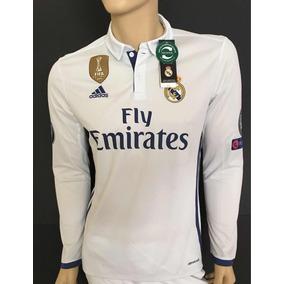 Jersey Manga Larga Real Madrid adidas 2016 17 Ronaldo Parche 82c2668b007d0
