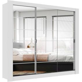 Guarda-roupa Casal 3 Portas C/espelho Campos - Madesa -