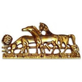 Llavero Para Colgar Bronce ( Caballos ) Ab Brass( Girodi )