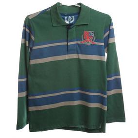 7306f9b598 Camiseta Polo Manga Longa Listrada - Calçados
