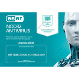 Eset Oem Nod32 Antivirus Home Edition V.12 2019 1 Año 1pc