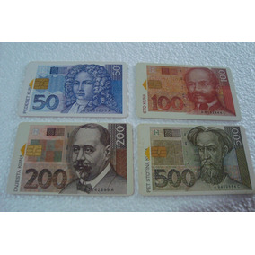 Cartao Croacia Hpt 1995 / Cedulas Da Croacia / Com 4 Cartoes