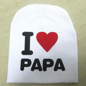 Conjunto Gorro Bebé Niño I Love Mamá Papá