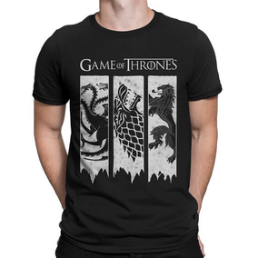 Camiseta Game Of Thrones Camisa Got Brasões 3 Casas