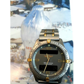 Relogio Breitling Aerospace Titanium E Ouro 40 Mm Digital