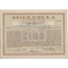 Brasil 1956 Ação Ordinária Nominativa Móveis Cimo Curitiba