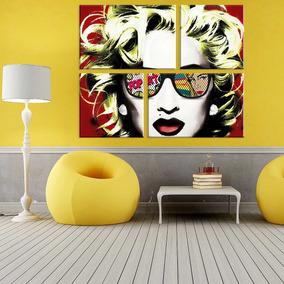 Conjunto De 4 Telas Decorativas Em Canvas Marilyn Style Únic 39f03e4c3a