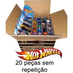 Caixa Hotwheels C/ 20 Carrinhos - Sem Duplicidade