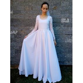 Vestido De Noiva Casamento Festa Moda Evangélica Mirian Buss