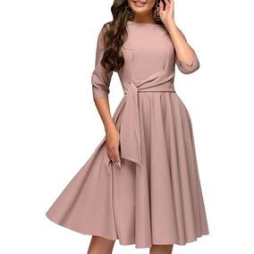 0bbcee0dd1d Vestidos Cortos En Linea A - Vestidos Cortos de Mujer Marrón en ...