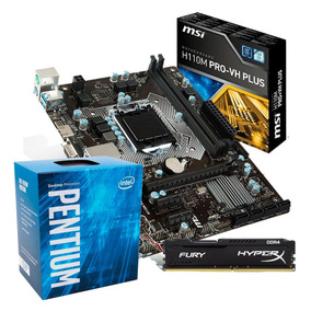 Kit Placa Mãe Msi H110m Pro + Pentium G4560 + 8gb 2400 Ddr4