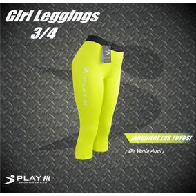 Leggings Mallon Licra 3/4 Mujer Varios Colores Play Fit
