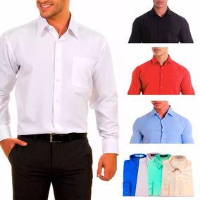 Camisa Social Cor De Rosa Masculina - Camisa Masculino no Mercado ... 7e9be4e7fb420