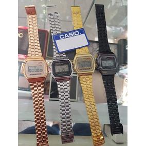 Reloj Unisex A159 Metálico Retro Varios Colores Lote 6 Pzas