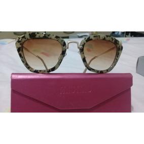 Óculos De Sol Mod. Miu Miu Noir Smu10n Lente Degrade Marrom 8a0426df1f