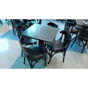 77a51a424ab Conjunto Mesa + 4 Cadeiras Cor Preta - Thonart (usado)