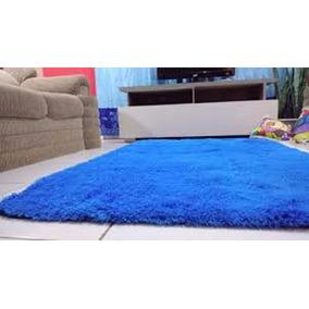 Tapete Azul Fio De Seda Pelo Alto - Tapete de Sala no Mercado Livre ... 1630e490e3c1