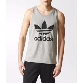 Camiseta Regata Masculina Camiseta Regata Cavada Logo adidas 9b70ac894be