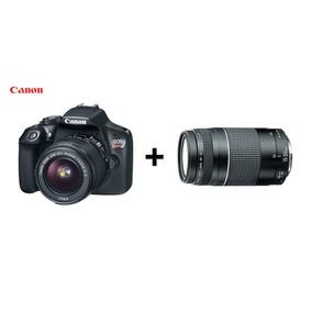 Câmera Canon Digital Profissional Rebel T6 + Lente Ef75-300m