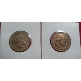 Moedas De 20 Réis De 1868 E 1969 No Coin Holder