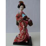 Boneca Japonesa Gueixa 30 Cm
