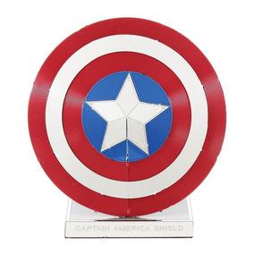 Mini Réplica De Montar Marvel Escudo Capitão América