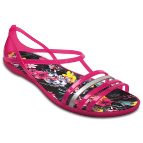 Sandalia Crocs Dama Isabella Graphic Sandal Rosa