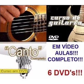 Curso De Guitarra + Violão + Canto! Aulas Em 6 Dvds Ghj