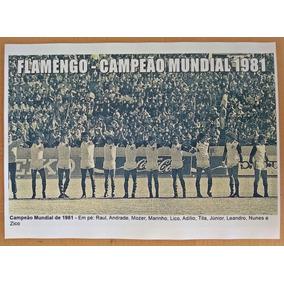 Poster Do Flamengo - Campeão Mundial De 1981