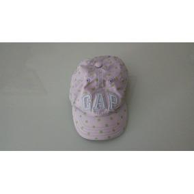 Boné Gap Baby Rosa Com Bolinhas Verde Otimo Estado 870676ecb92