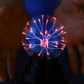 Usb Magia Preto Base Vidro Plasma Bola Esfera Lamp Com Usb C