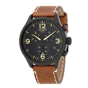 cca3ecbe849 Relógio Tissot Xl Cronógrafo Preto marrom couro Suíço Mascul