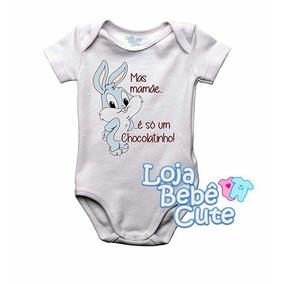 aeed527232 Body Páscoa - É Só Um Chocolatinho Mamãe -menino Menina Bebê