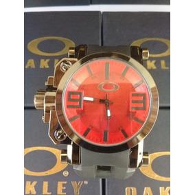 6b6066b867e Relogio Oakley - Fundo Vermelho - Relógio Masculino no Mercado Livre ...
