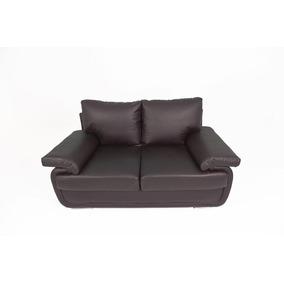 Sofa 2 Puestos Rossetti Home Totti -ecocuero Lujo Café