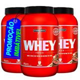 3 Whey Protein 900g - 2700kg Integralmedica Imperdivél!!