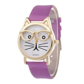 Hermoso Reloj Para Mujer Diseño Gatito Kawaii