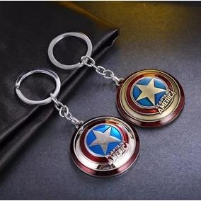 Chaveiro Escudo Capitão América Vingadores Prata Ou Dourado