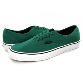Tenis Vans Hombre Verde Authentic Canvas Vn0a38emmm7