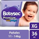 Pañales Babysec Premium Xg 36 U