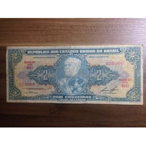 Cédula 2 Cruzeiros N° 10.000 - 1° Est - 2° Série - Bc