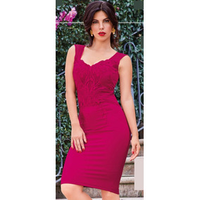 Vestido Cereza C/aplicacion Cklass 989-06