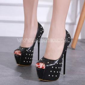 c43f2e9bf4 Sapatos Femininos Baratos Importados - Sapatos Preto no Mercado ...